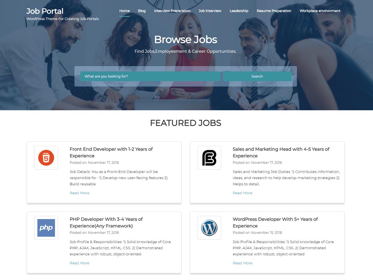 Job Portal WordPress Theme   PiperThemes