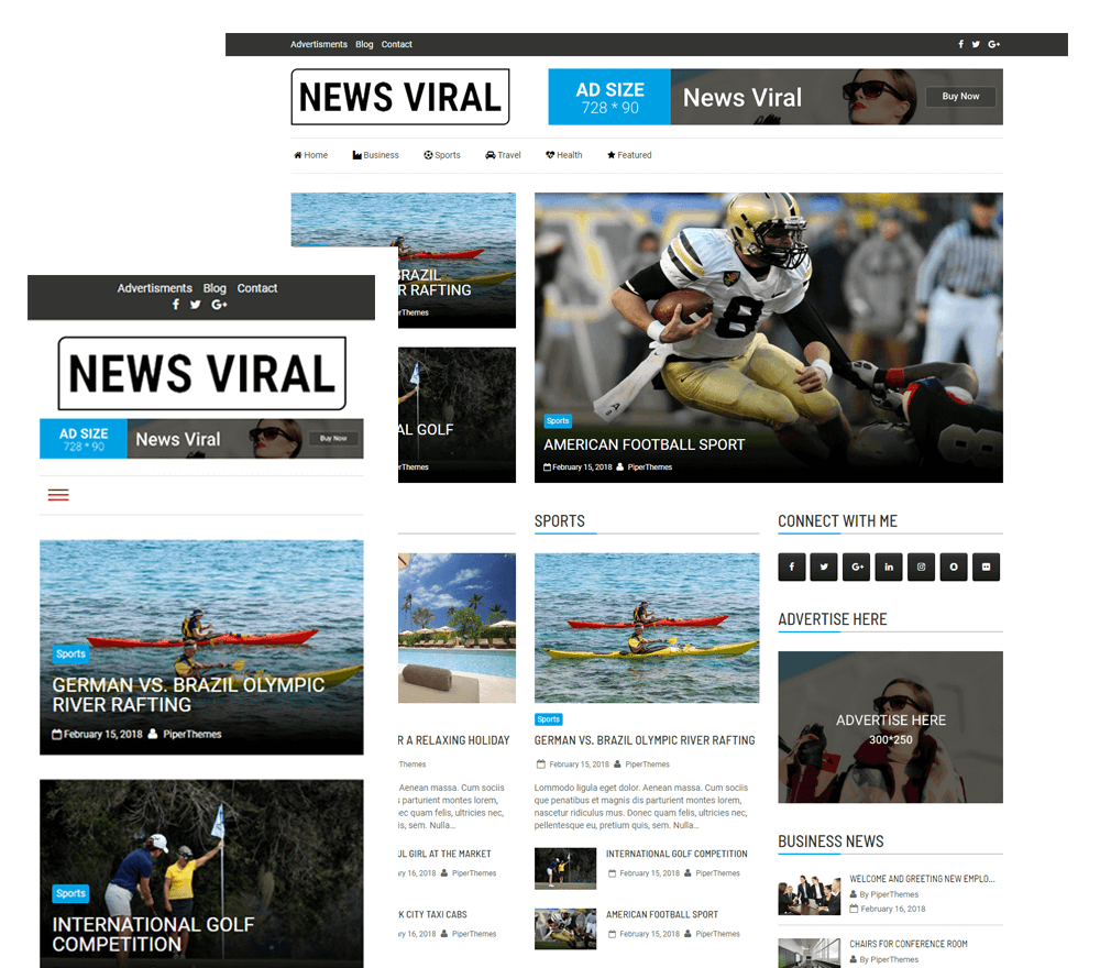 News Viral WordPress Theme | PiperThemes
